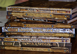 Stack of D&D manuals