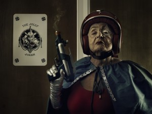 Ray gun grandma