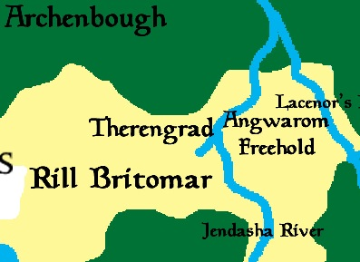 Therengrad stands south of the Archenbough and west of the Freehold