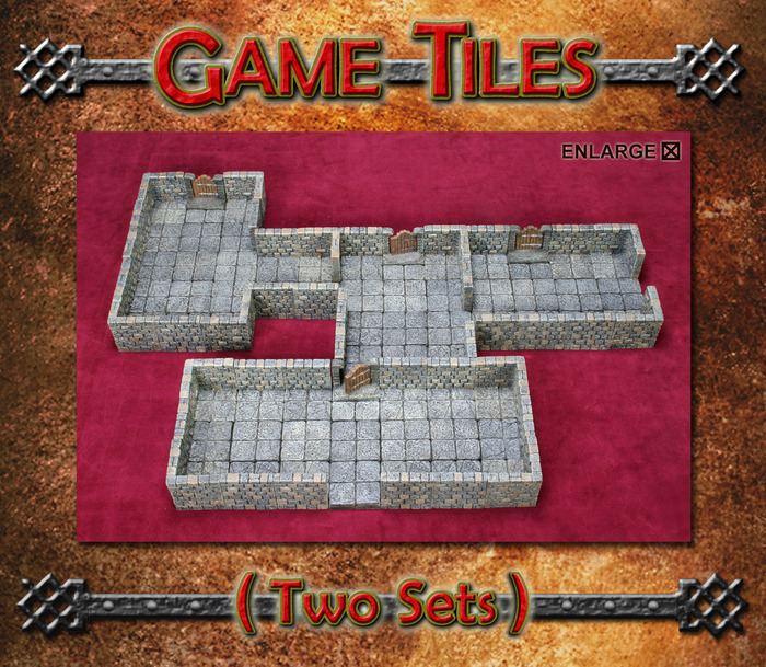 Dwarven Forge Kickstarter Dungeon Tiles (Two sets)