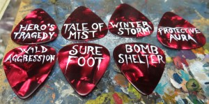 Guitar Pick Tokens from Wargaming Tradecraft